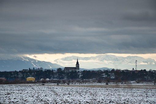 Church, Transylvania, Romania, Winter
