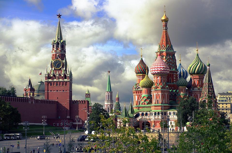 Москва, Спасская Башня, Собор Василия Блаженного
