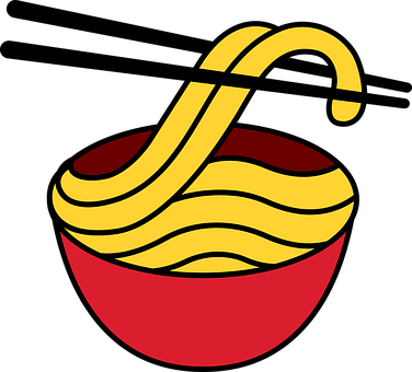 麺, 麺ロゴ, 麺ベクトル, 赤い鉢, 鉢ロゴ, 鉢ベクトル, うどん