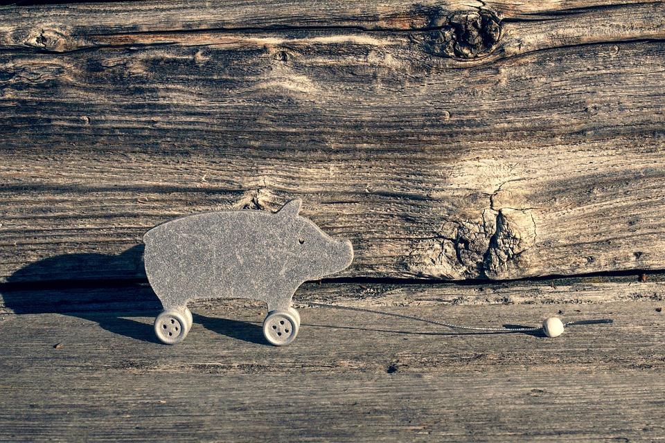 ラッキー豚, 挨拶, おもちゃ, 喜び, 新年の日, はがき, 装飾, シルベスター, きらめき