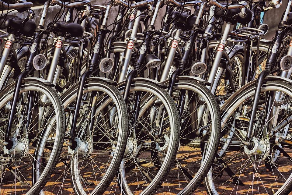 City bikes for bike ride