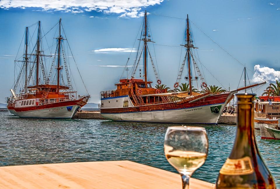 Ships, Sailing Vessel, Landscape, Greece, Sea, Port