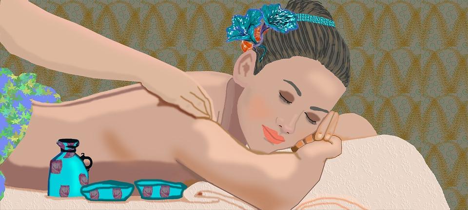 Массаж, Красивая Женщина, Здоровья, Расслабиться