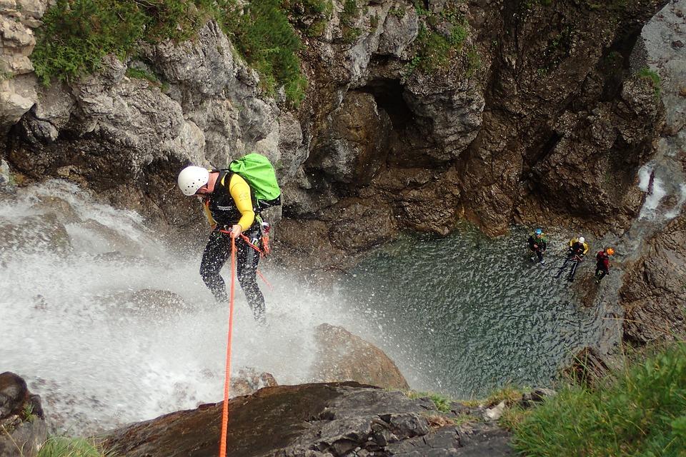 Canyoning, Waterfall, Cascade, Waterfalls, Canyon