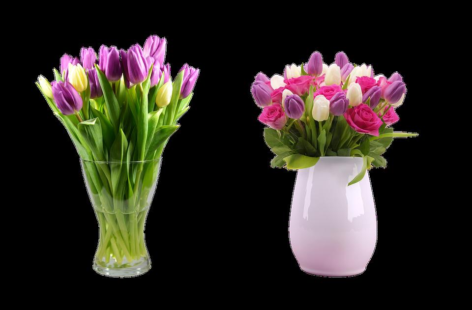 Strauß Eine Vase Mit Einer Blume Kostenloses Foto Auf Pixabay