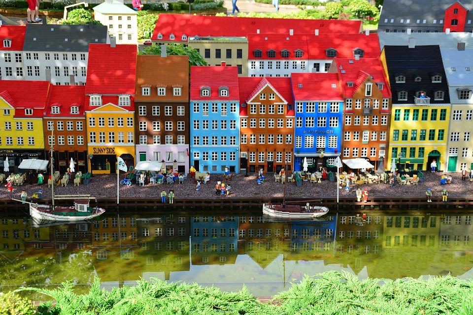 Legoland, Edificio, Lego, Bambini, Blocchi, Giocattoli