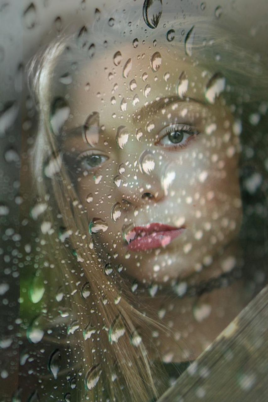 Картинки капли дождя на лице