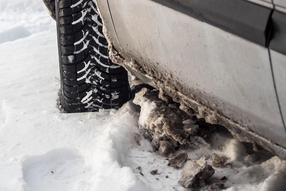 Winter, Snow, Frost, Car, Tire, Way, Zaspa, Wet Snow
