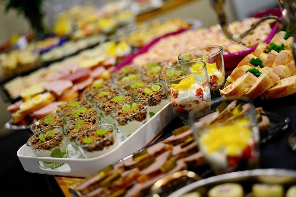 ビュッフェ, 食べる, お祝い, パーティー, 食品, 恩恵を受ける, 食事, 美食, ダイン, ホテル