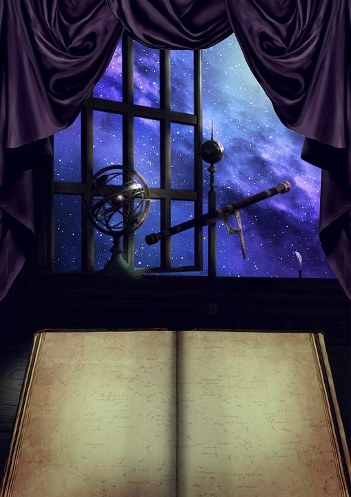 Měsíční Svit, Dalekohled, Astrologie, Astronomie, Okna