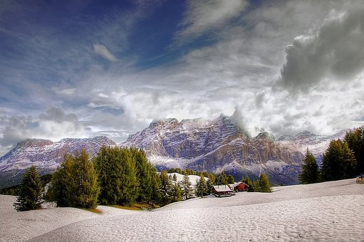 Pralongia, Dolomites, Alpine, Nature