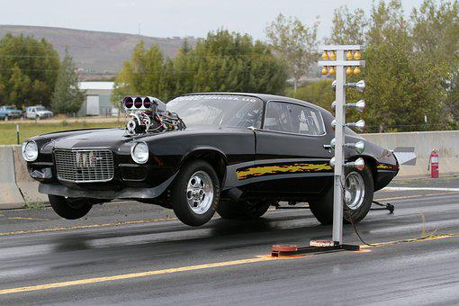 Drag Racing, Camaro, Chevrolet, Car