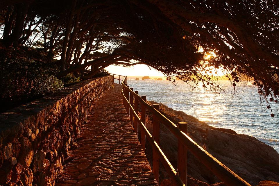 Sunrise, Mar, España, Calma, Lado, Paisaje, Crepúsculo