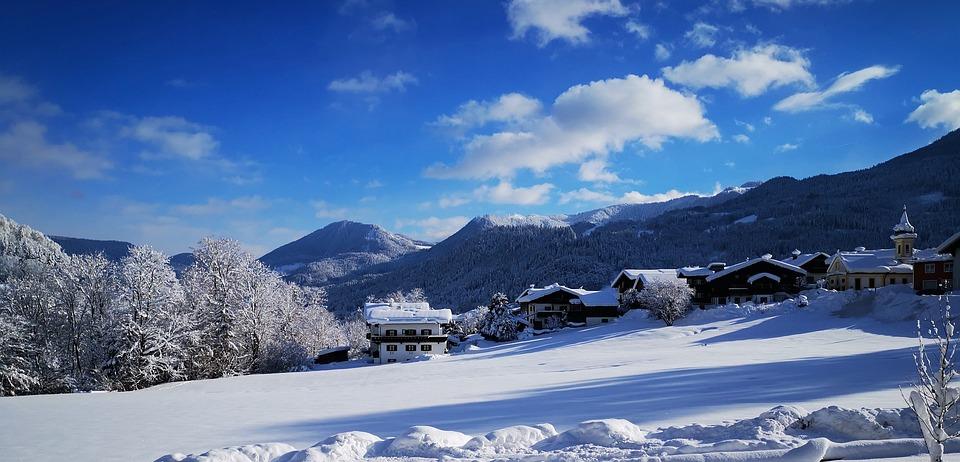 Berchtesgaden, Winterurlaub, Panorama, Schnee, Berge