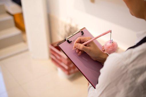 書き込み, 鉛筆, メモ, ショップ, ピンク, 販売, 紙, スケッチ, 制服