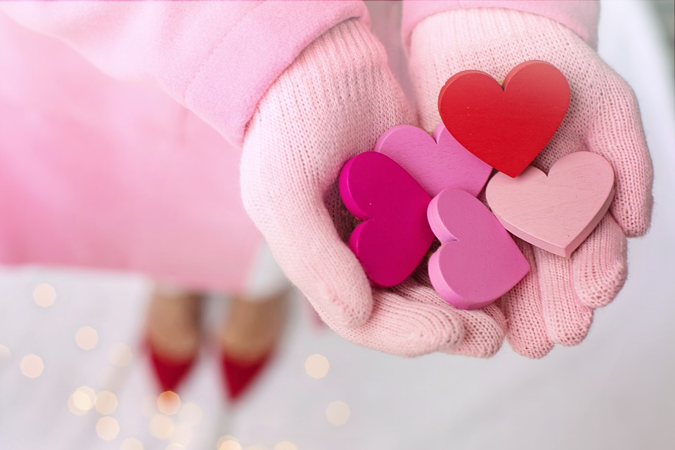 Alla Hjärtans Dag, Valentine, Hjärtan, Händer Håller
