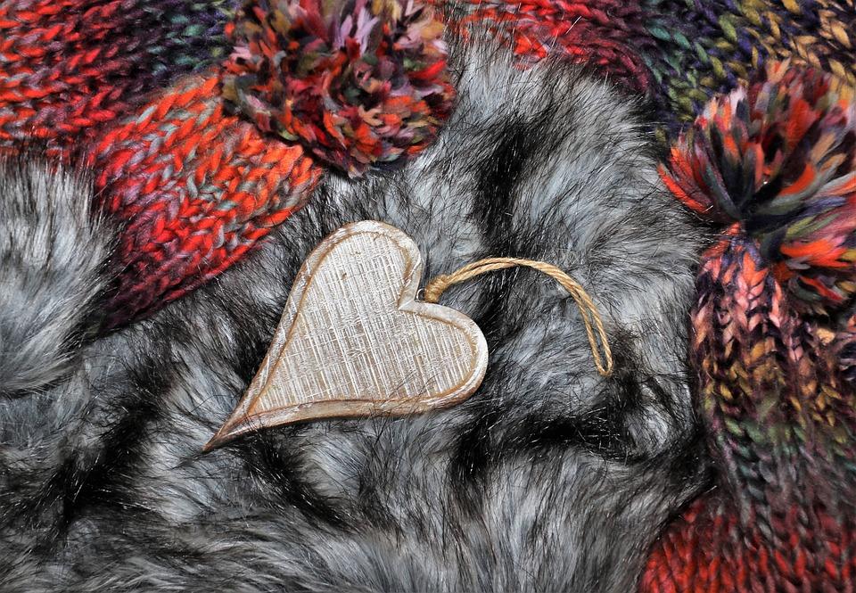 Wool, Yarn, Weave, Thread, Wooden Heart, Fur
