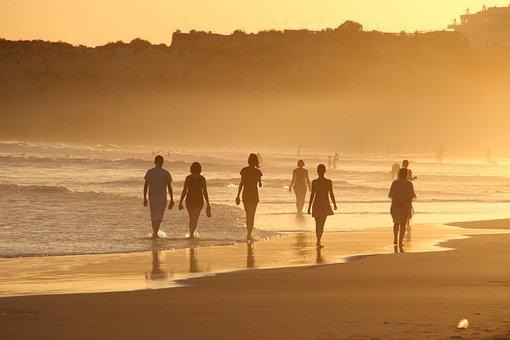 Playa, Humanos, Dar Un Paseo, A Pie