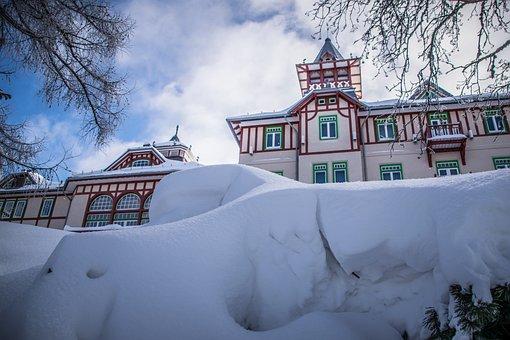 Snow, Drifts, Winter, Frost