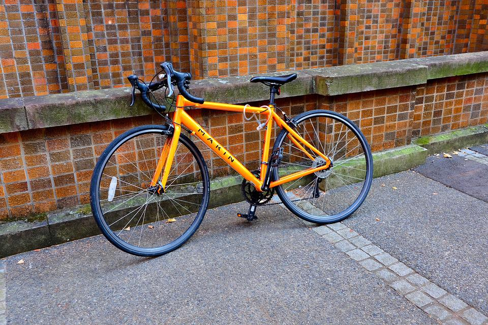 Bicycle, Campus, Student, Yellow, Young, Active