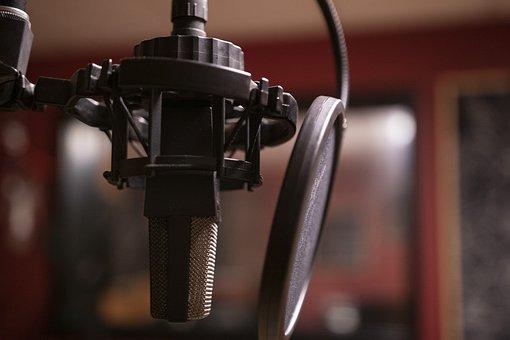 ポッド キャスト, 音楽, スタジオ, マイク, ラジオ, リスニング