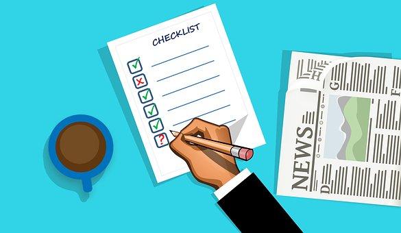 Checklist, Check, List, Clipboard