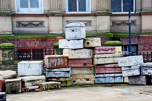 O Liverpool, Mala, Escultura, Rua