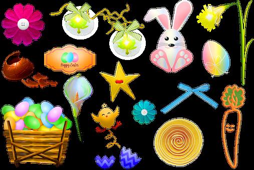 Pasqua, Coniglietto, Uova, Calla Lily