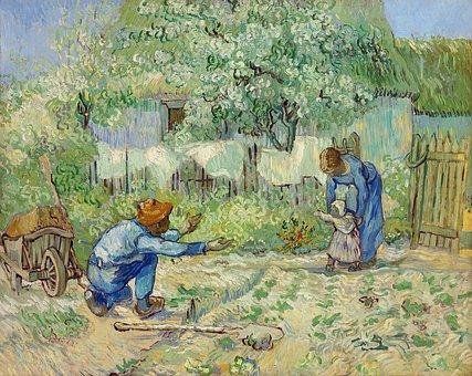 After Millet, Antique, Art, Artwork
