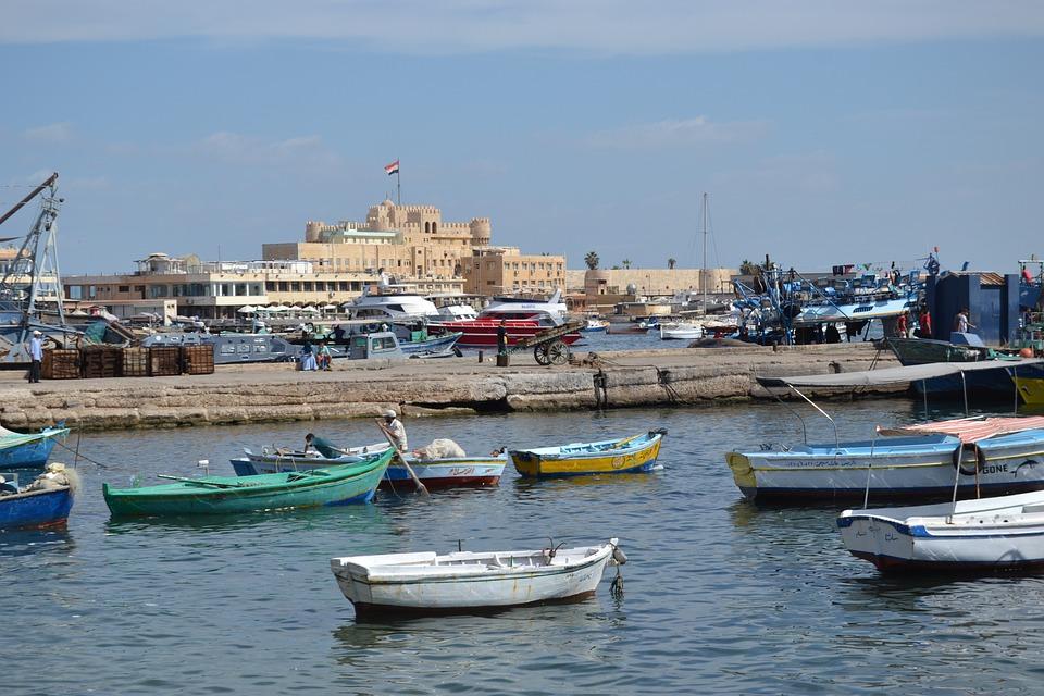 Aleksandria, Morza Śródziemnego, Morze, Budynku, City