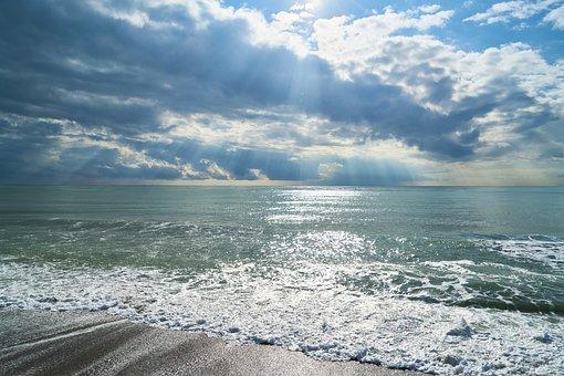 Τοπίο, Θάλασσα, Ωκεανών, Φόντο, ΣÏννεφα