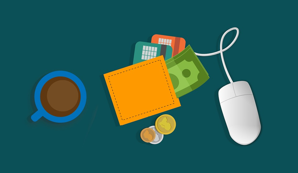 Brieftasche, Digital, Maus, E-Wallet, Bank, Geld