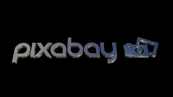 Pixabay, Logo, Design, 3D