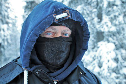 Lapland, Face, It, Hood, Icy, Frozen