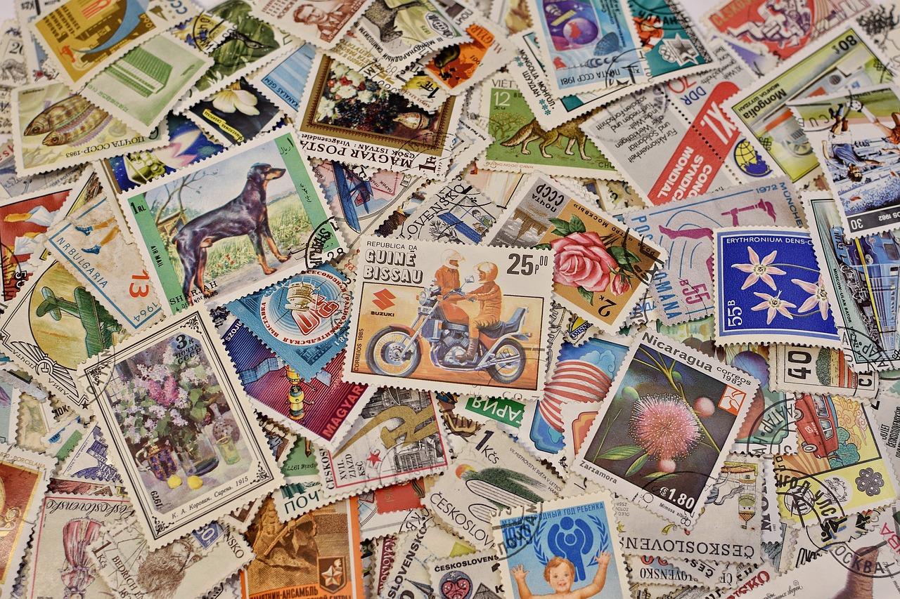 почтовые марки ретро картинки них