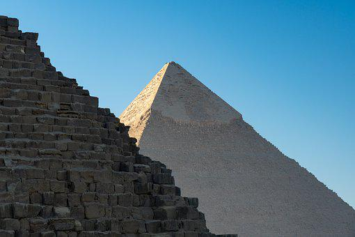 Pyramids, Egypt, Giza, Old, Monument
