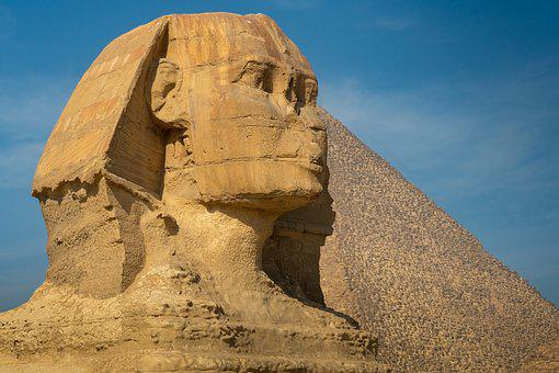 Sphinx, Egypt, Monument, Cairo, Giza