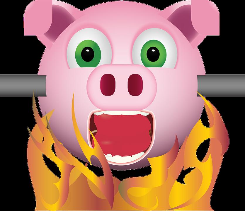 Graphic Pig On Spit Emoji Free Vector Graphic On Pixabay