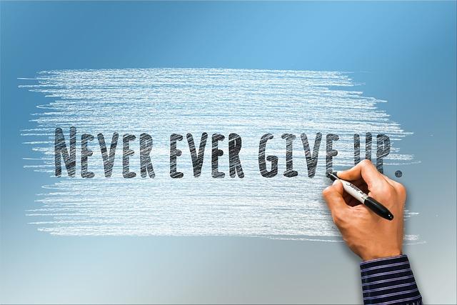 Niemals Aufgeben Selbstaufgabe Kostenloses Foto Auf Pixabay