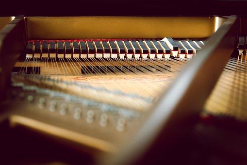 Piano, Key, Inside, Piano Keys, Music
