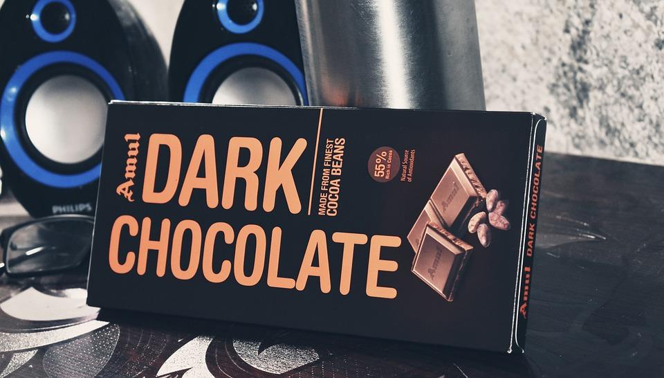 Amul, Dark, Treat, Chocolate, Speakers, Desk, Blue Desk