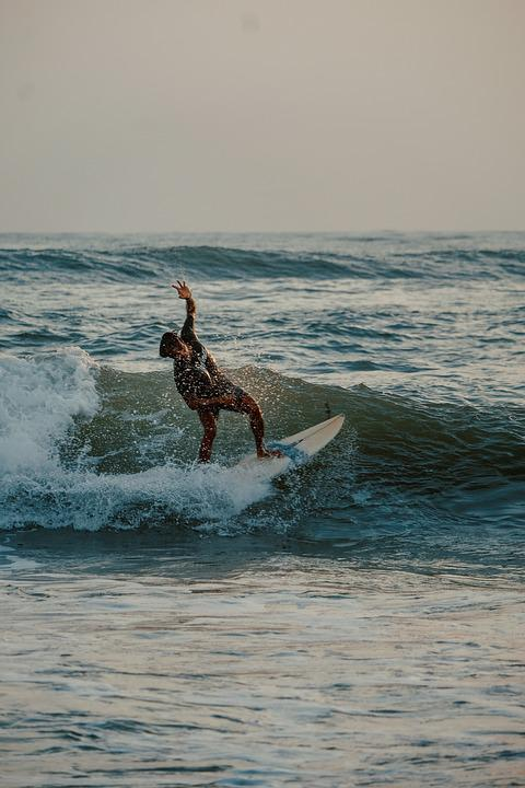 Man, Beach, Bali, Wave, Shores, Sea, Ocean, Surfing