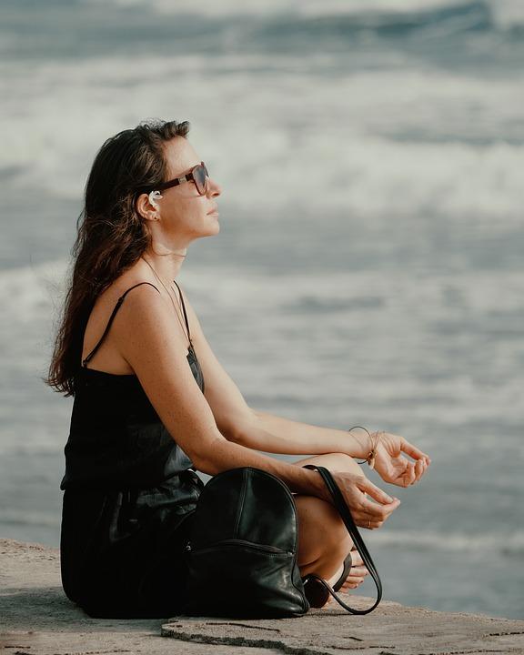 Vrouw, Strand, Bali, Wave, Kusten, Zee, Oceaan