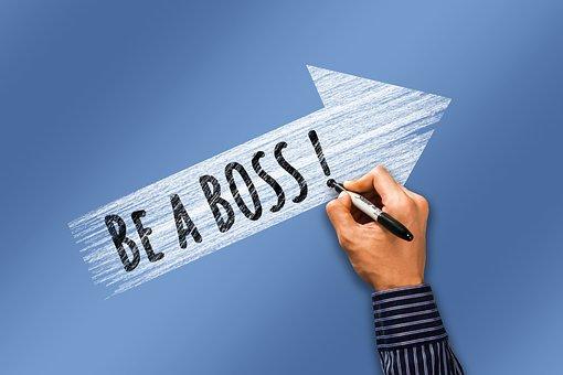 Karriere, Boss, Hand, Schreiben, Pfeil
