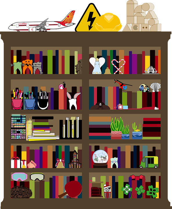 78+ Gambar Rak Buku Vektor Terlihat Keren