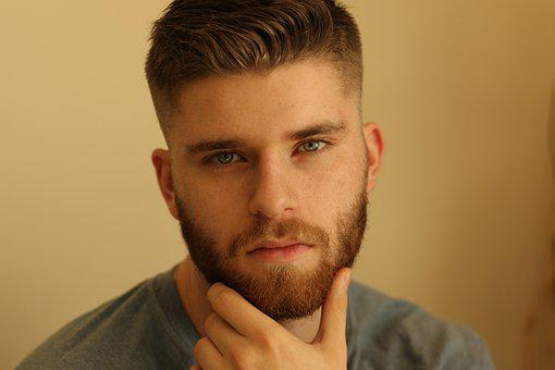 男, 若いです, クローズ アップ, 肖像画, 髭