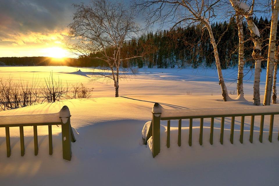 Tramonto, Paesaggio, Inverno, Twilight, Natura, Calma