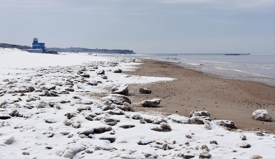 Meer, Winter, Strand
