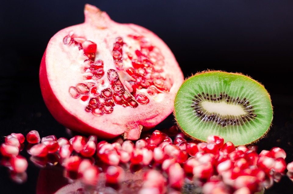 Melagrana, Kiwi, Frutta, Mangiare, Alimentari