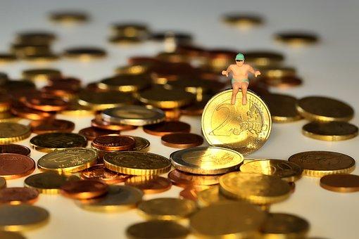 お金, 泳ぐ, イン-ザ-マネーとは、泳ぎ, 帝国, コイン, ユーロ, セント